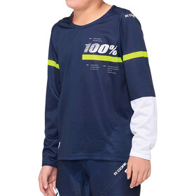 100% R-Core DH Maillot de cyclisme Adolescents, dark blue/yellow